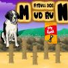 Pas trči po blatu